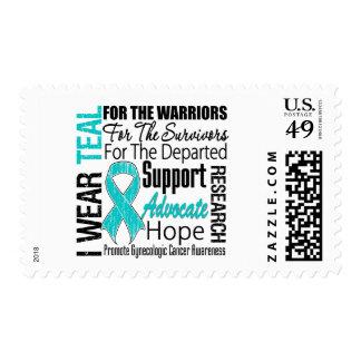 Gynecologic Cancer I Wear Teal Ribbon TRIBUTE Stamp