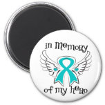 Gynecologic Cancer In Memory of My Hero Refrigerator Magnets