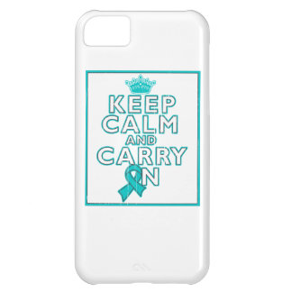 Gynecologic Cancer Keep Calm and Carry ON iPhone 5C Case