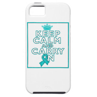 Gynecologic Cancer Keep Calm and Carry ON iPhone 5 Case