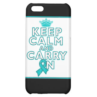 Gynecologic Cancer Keep Calm and Carry ON iPhone 5C Cover