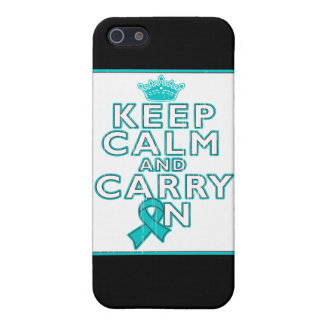 Gynecologic Cancer Keep Calm and Carry ON iPhone 5 Cases