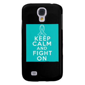 Gynecologic Cancer Keep Calm and Fight On Galaxy S4 Covers