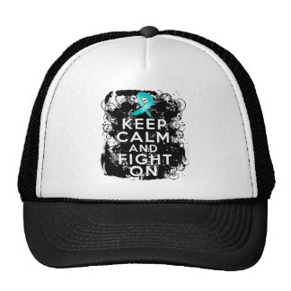 Gynecologic Cancer Keep Calm and Fight On Trucker Hat