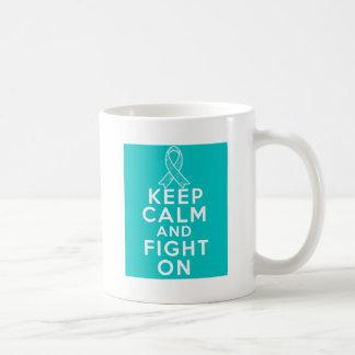 Gynecologic Cancer Keep Calm and Fight On Classic White Coffee Mug