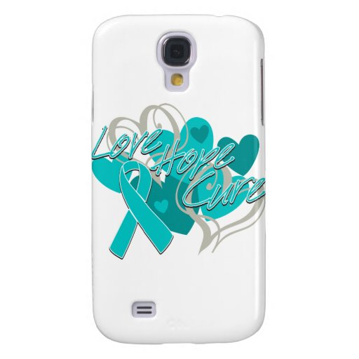 Gynecologic Cancer Love Hope Cure Samsung Galaxy S4 Case