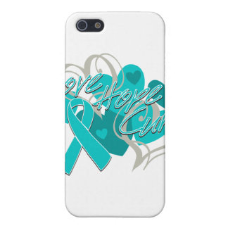 Gynecologic Cancer Love Hope Cure Covers For iPhone 5