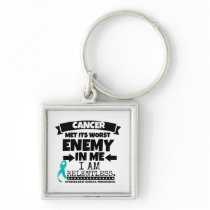 Gynecologic Cancer Met Its Worst Enemy In Me Keychain