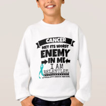 Gynecologic Cancer Met Its Worst Enemy In Me Sweatshirt
