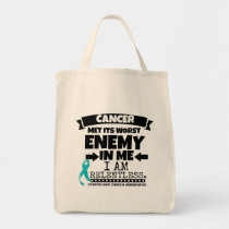 Gynecologic Cancer Met Its Worst Enemy In Me Tote Bag