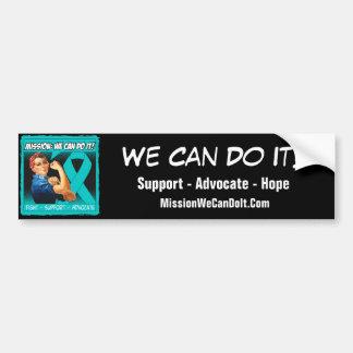 Gynecologic Cancer Mission We Can Do It Car Bumper Sticker