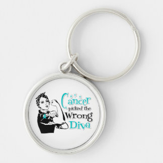 Gynecologic Cancer Picked The Wrong Diva Key Chain
