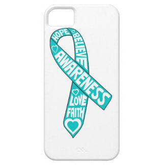 Gynecologic Cancer Slogans Ribbon iPhone 5 Covers