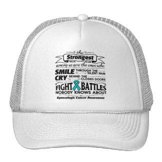 Gynecologic Cancer Strongest Among Us Trucker Hat
