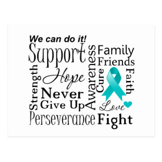 Gynecologic Cancer Supportive Words Post Cards