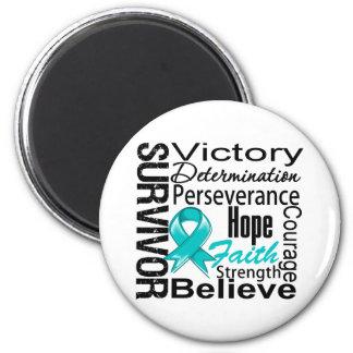 Gynecologic Cancer Survivor Collage 2 Inch Round Magnet