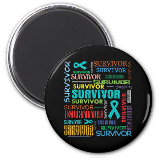 Gynecologic Cancer Survivor Collage.png 2 Inch Round Magnet