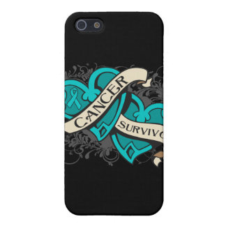 Gynecologic Cancer Survivor Dual Hearts Cover For iPhone 5/5S