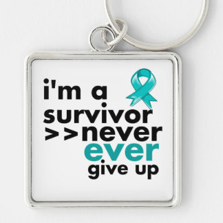 Gynecologic Cancer Survivor Never Give Up Keychain