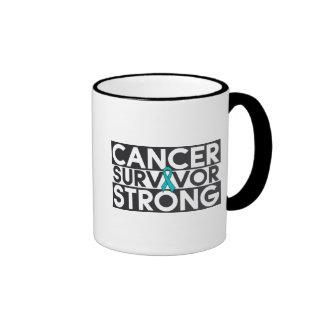 Gynecologic Cancer Survivor Strong Ringer Coffee Mug