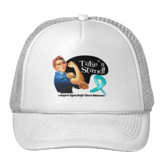Gynecologic Cancer Take a Stand Mesh Hats
