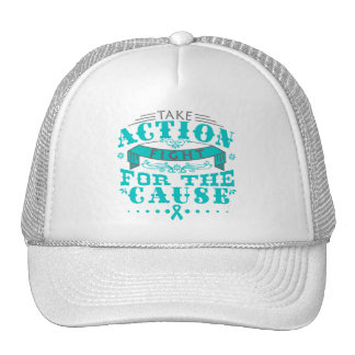 Gynecologic Cancer Take Action Fight For The Cause Trucker Hat