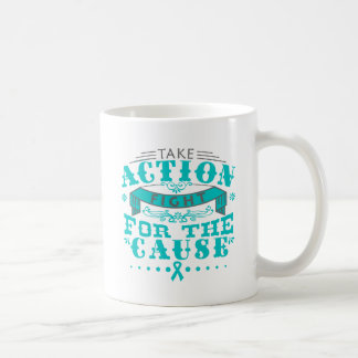Gynecologic Cancer Take Action Fight For The Cause Classic White Coffee Mug