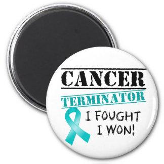 Gynecologic Cancer Terminator 2 Inch Round Magnet