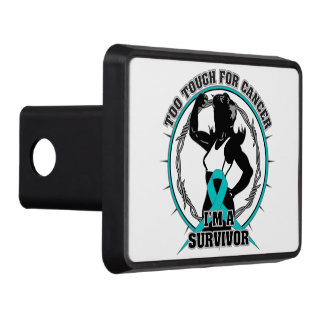 Gynecologic Cancer Too Tough For Cancer Trailer Hitch Cover