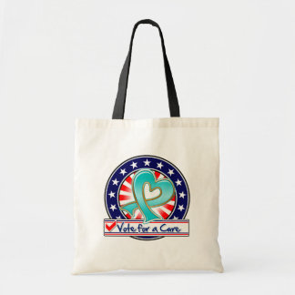 Gynecologic Cancer Vote For a Cure Budget Tote Bag