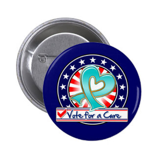 Gynecologic Cancer Vote For a Cure 2 Inch Round Button