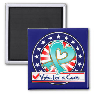 Gynecologic Cancer Vote For a Cure 2 Inch Square Magnet