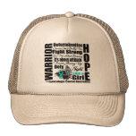 Gynecologic Cancer Warrior Fight Slogans Trucker Hat