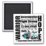 Gynecologic Cancer Warrior Fight Slogans Magnets