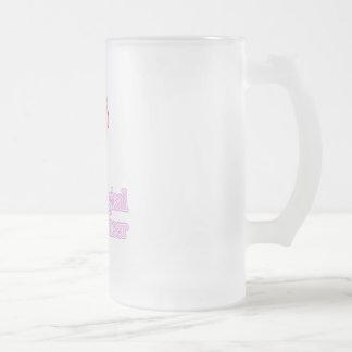 Gynecological Cancer Frosted Glass Beer Mug