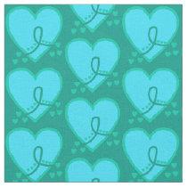 Gynecological, cervical, ovarian Survival Heart Fabric