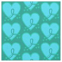 Gynecological, cervical, ovarian Survival Heart Fabric