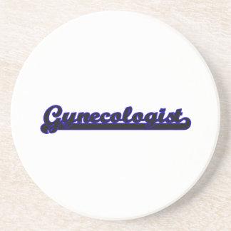 Gynecologist Classic Job Design Beverage Coasters