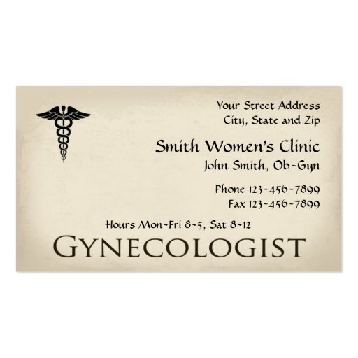 gynecologist obstetrician ob gyn business card zazzle. Black Bedroom Furniture Sets. Home Design Ideas