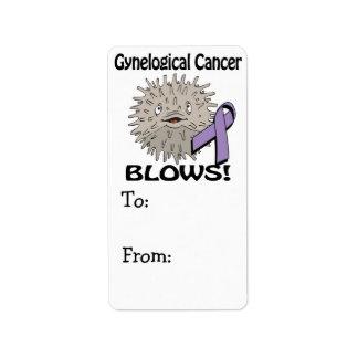 Gynelogical Cancer Blows Awareness Design Label