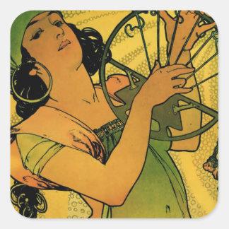 Gypsies Goddess Artwork Square Sticker