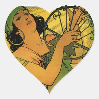 Gypsies Goddess Artwork Heart Sticker