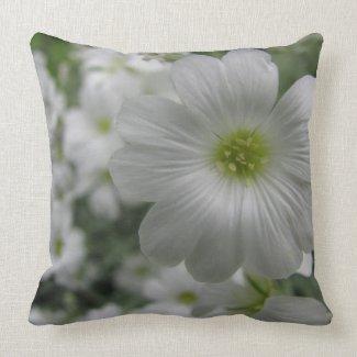 Gypsophilia Flower Pillow throwpillow
