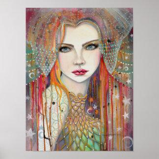 Gypsy Beautiful Fantasy Art Woman Poster