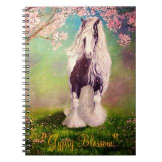"""Gypsy Blossom"" Vanner horse, stallion Spiral Notebook"