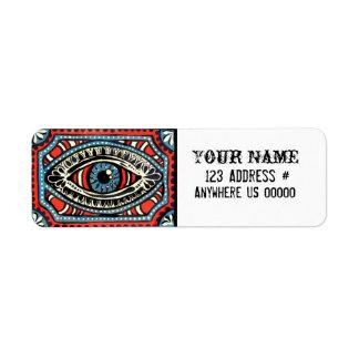 Gypsy Blue Return Address Label