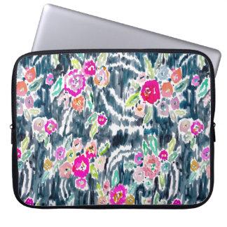 Gypsy Bohemian Dark Watercolor Floral Computer Sleeve