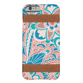 Gypsy, Boho, Teal and Peach Barely There iPhone 6 Case