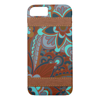 Gypsy, Boho Turquoise and Brown iPhone 8/7 Case