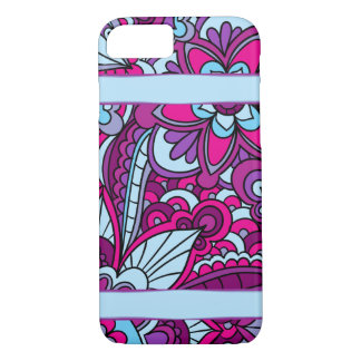 Gypsy, Boho Vivid Blue and Purple iPhone 8/7 Case